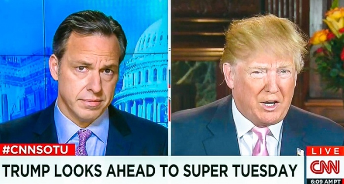 "Sick of ""Fake News"" President Trump Issues TLC Match to CNN Anchor Jake Tapper"